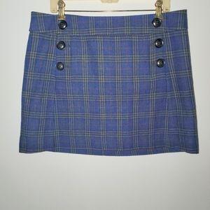 NWOT GAP Wool Plaid Mini Skirt Size 12